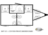 12C 2 Station Shower Trailers Combo