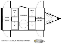 Shower Trailers 4 Station Floorplan