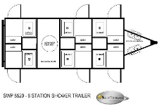 6 Station Shower Trailers Floorplan