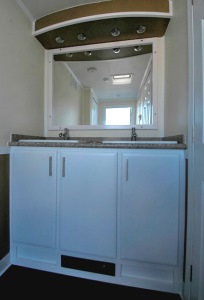 Restroom Trailers for Sale Vegas Counter