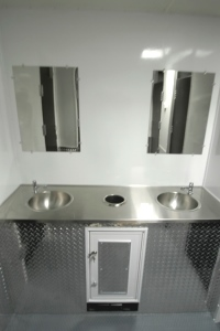Restroom Trailers for Sale Stainless Sink