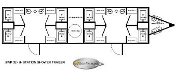 8 Station Shower Trailer Floorplan