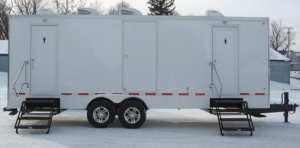 Restroom Trailers for Sale Double Ax Snow