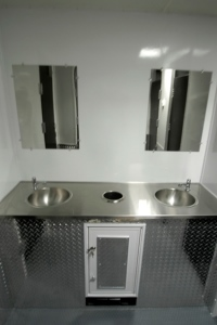 Restroom Trailers for Sale 2 Mirrors