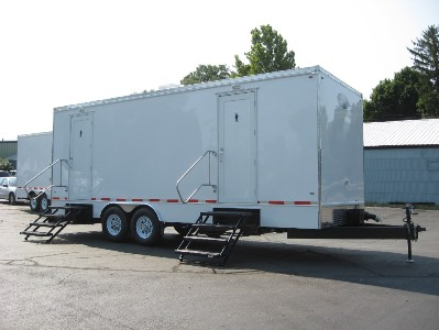 Restroom Trailers for Sale Lot