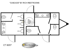 Restroom Trailers Cascade 7 Station Floorplan