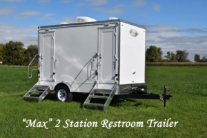 Portable Restroom Trailer for Sale 2 Station Max