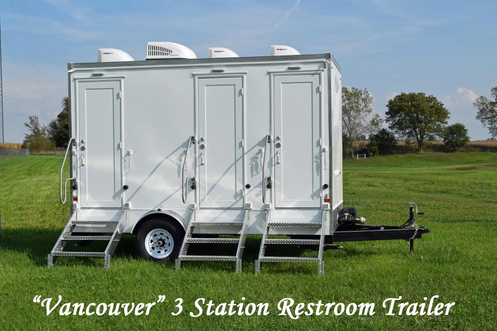 Portable Restroom Trailer 3 Station
