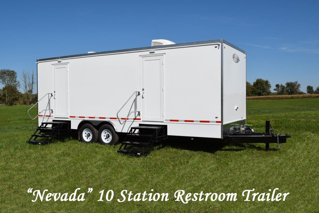 Portable Restroom Trailers For Sale 10 Station Nevada Ext