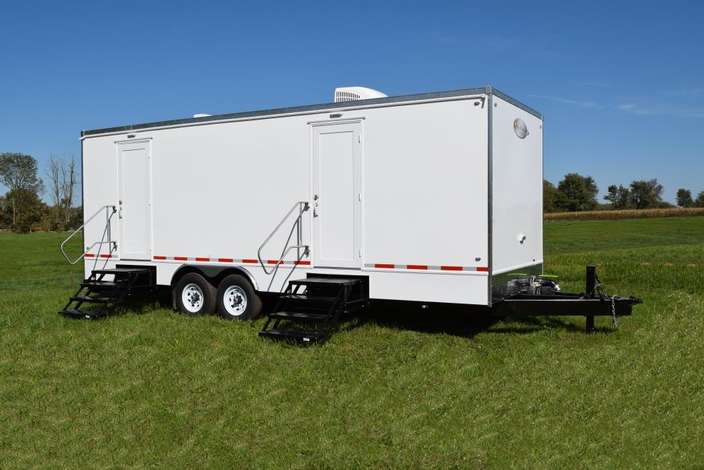Contact us rich restroom trailers for Portable bathroom trailers