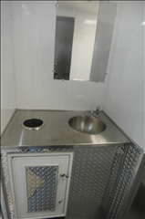 Restroom Trailers for Sale Stainless Counter