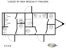 Lodge 8 Station Restroom Trailers Floor Plan