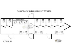 Restroom Trailers Longfellow 10 Station Floorplan
