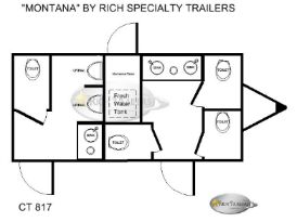 Montana 6 Station Restroom Trailers Floorlplan