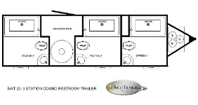 SWT 22 3 Station Shower Trailers Combo Floorplan