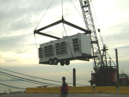 Portable Restroom Trailer Crane