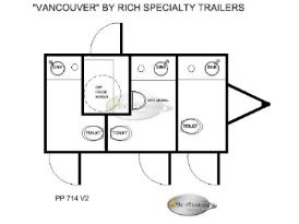 Restroom Trailers Vancouver 3 Station Restroom Trailer Floorplan