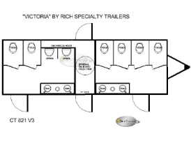 Victoria 8 Station Restroom Trailers Floorplan