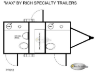 Portable Restroom Trailers - Max Floorplan