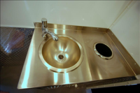 Portable Restroom Trailers - Stainless Sink
