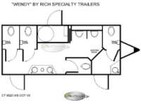 Portable Restroom Trailers - Wendy Floorplan