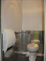 Portable Restroom Trailers - Diamond Plate