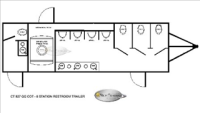 Portable Restroom Trailers - Floorplan