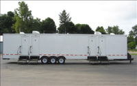 Portable Restroom Trailers - Triple Axle