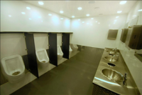Portable Restroom Trailers - Bright Ceiling