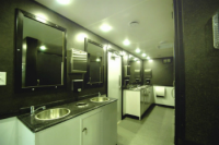 Portable Restroom Trailers - Stainless Sinks