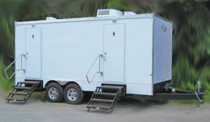 CT818 PORTABLE RESTROOM TRAILER MODELS EXTERIOR