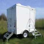 portable restroom trailer 2 station exterior