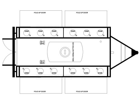 Hand washing Trailer 12 Floorplan