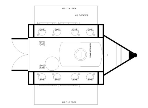 Hand washing Trailer 8 Floorplan
