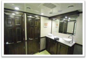 LUXURY PORTABLE RESTROOM TRAILERS FOR SALE VANITY