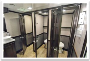 LUXURY DECOR PORTABLE RESTROOM TRAILERS FOR SALE INTEIRIOR