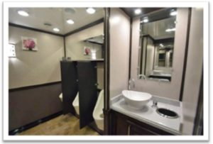 LUXURY DECOR PORTABLE RESTROOM TRAILERS FOR SALE URINALS