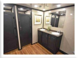 STAR TECH PORTABLE RESTROOM TRAILERS VANITY