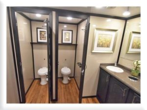 STAR TECH PORTABLE RESTROOM TRAILERS INTERIOR