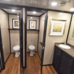 10 STATION RICH RESTROOM TRAILER STAR TECH DECOR STALLS