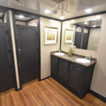 10 STATION RICH RESTROOM TRAILERS STAR TECH DECOR LAV PICTURE