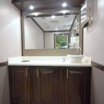 LUXURY 2 STATION PORTABLE RESTROOM TRAILER PICTURE VANITY